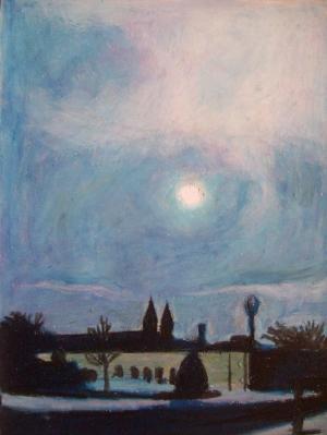 Steeples in Moonlight