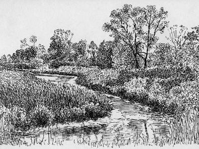Creek in Sturgeon Bay, WI