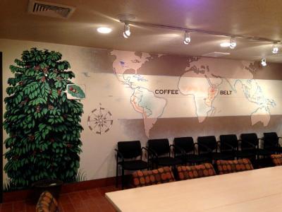 Coffee Map Mural- Door County Coffee & Tea (Carlsville, WI)