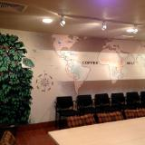Coffee Map Mural- Door County Coffee & Tea (Carlsville, WI)