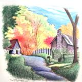 Country Fall Scene