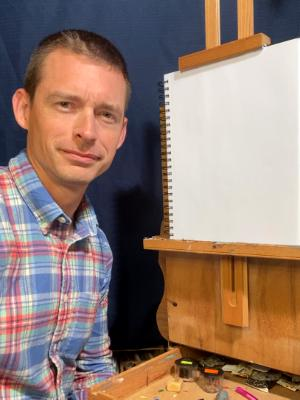 30 minute Zoom art lesson with Timothy: Oil Painting, Oil Pastel, Prismacolor colored pencil, Pen & Ink, or Pencil.